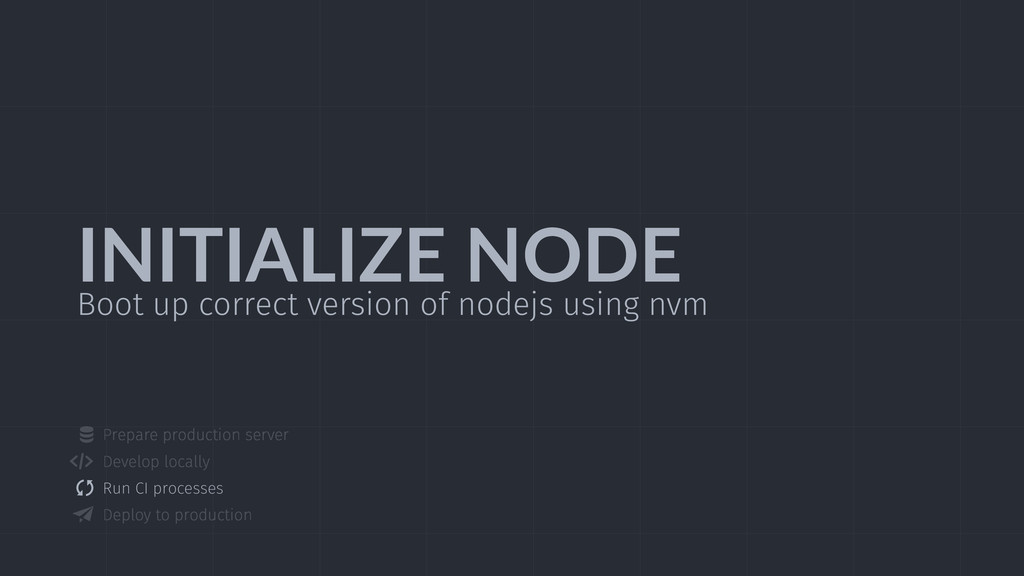 INITIALIZE  NODE Boot up correct version of nod...