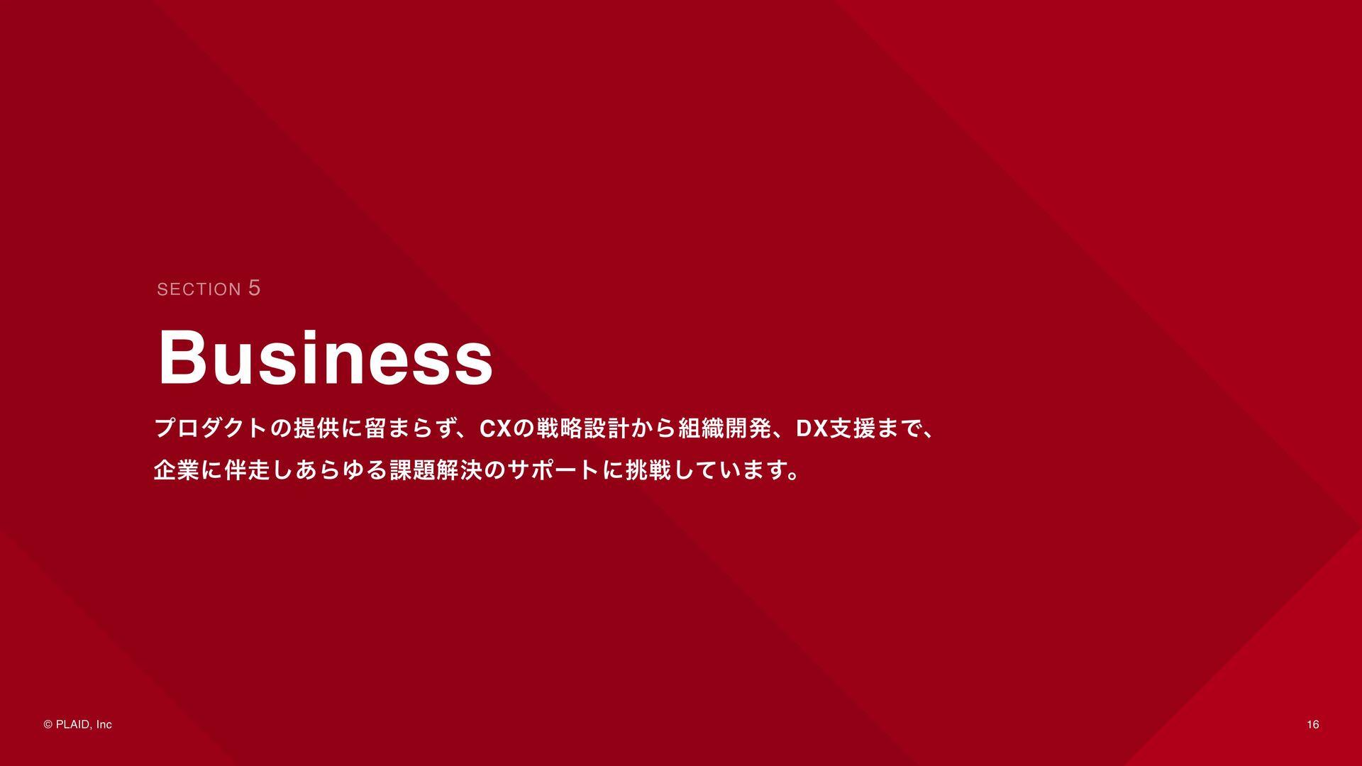 16 Business - KARTE © PLAID, Inc サイトやアプリの訪問顧客のリ...