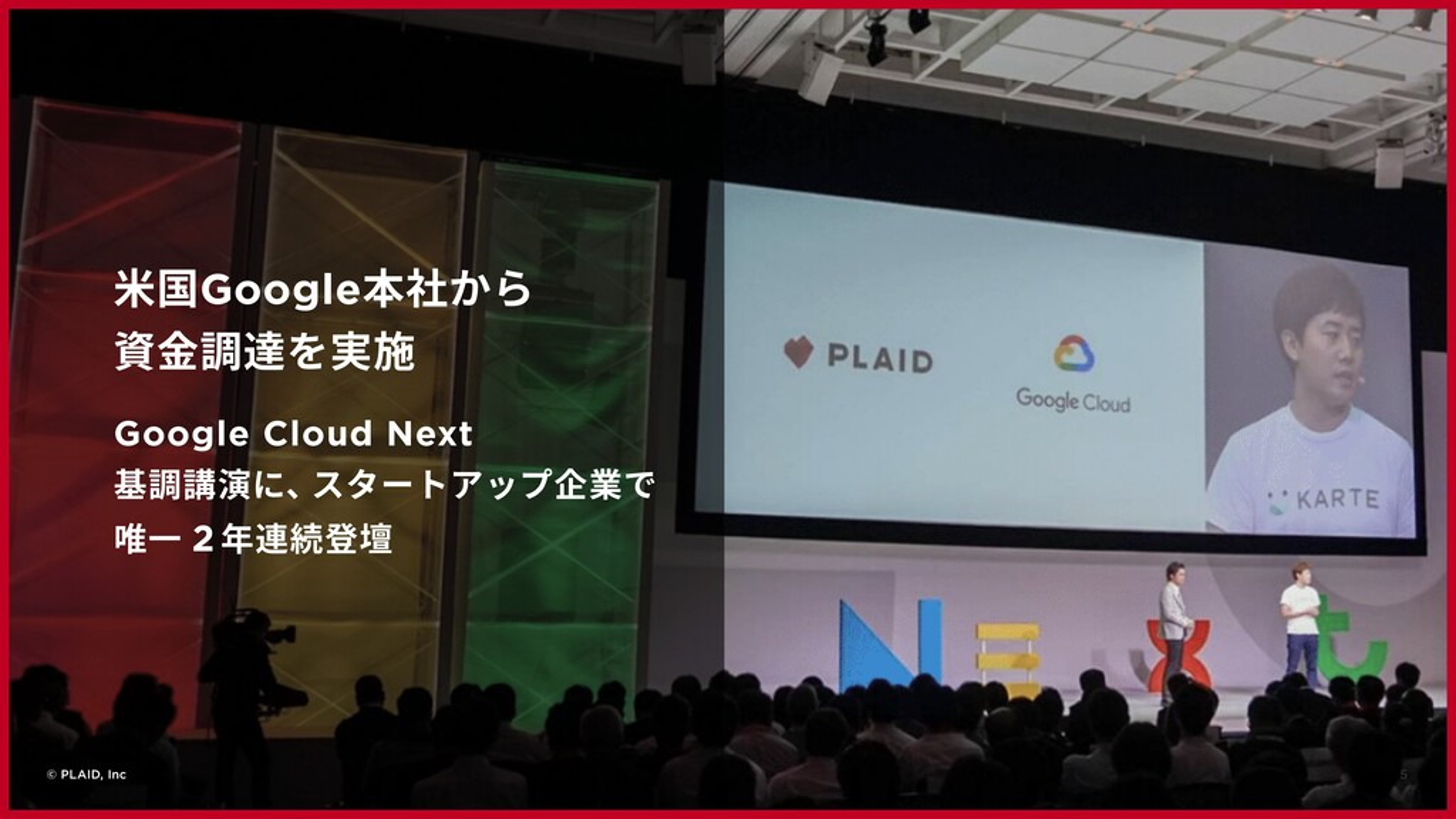 5 © PLAID, Inc ⽶国Google本社から 資⾦調達を実施 Google Clou...