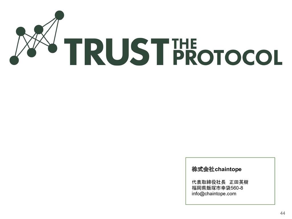 株式会社chaintope 代表取締役社長 正田英樹 福岡県飯塚市幸袋560-8 info@c...