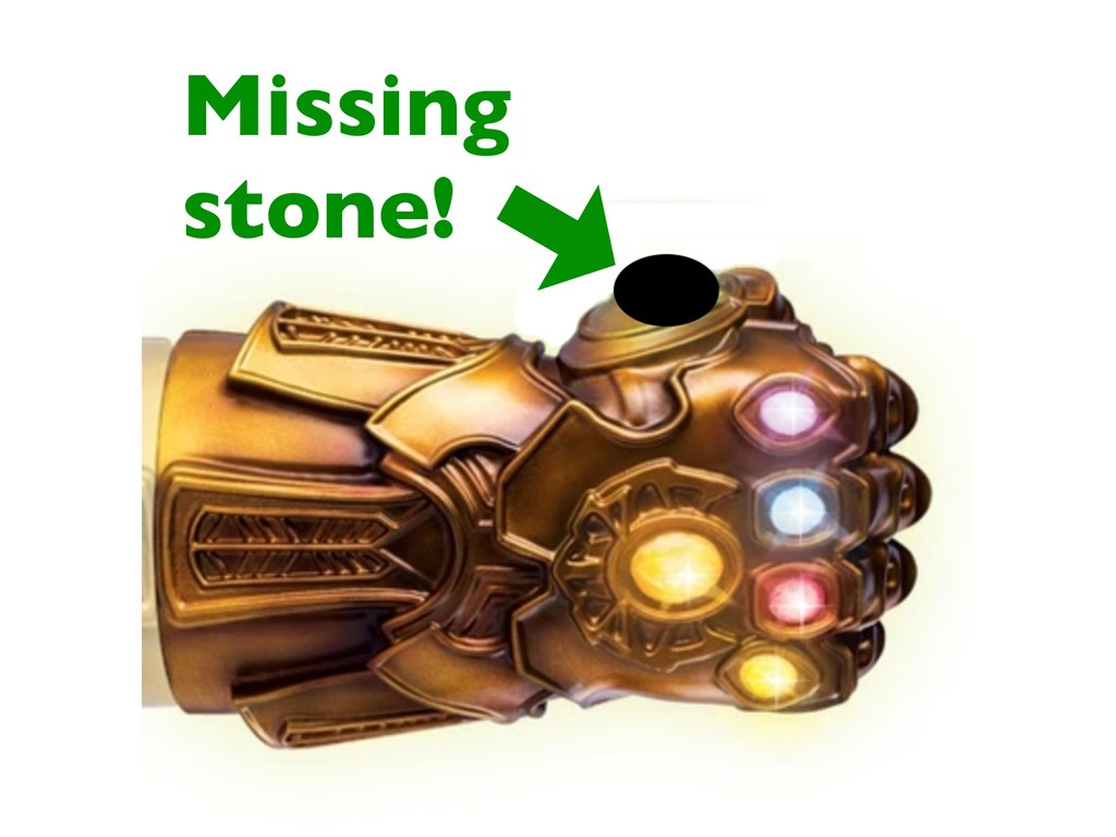 Missing stone!