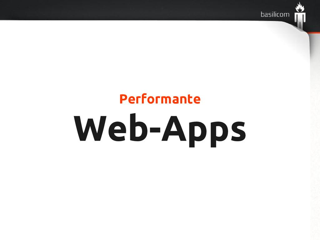 Performante Web-Apps
