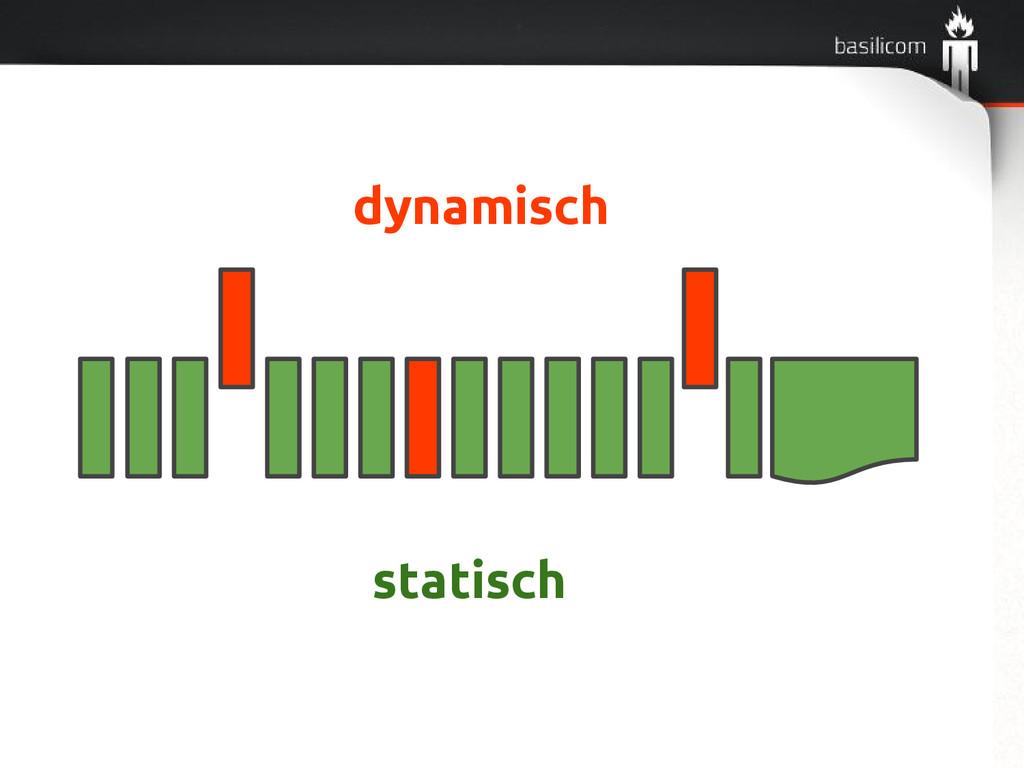 statisch dynamisch