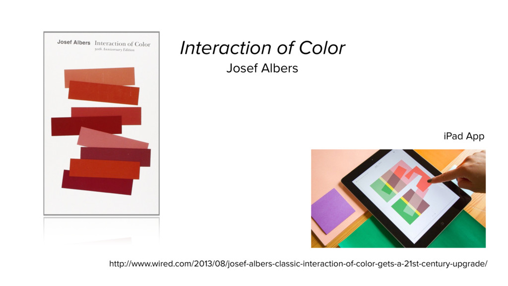 Interaction of Color Josef Albers http://www.wi...
