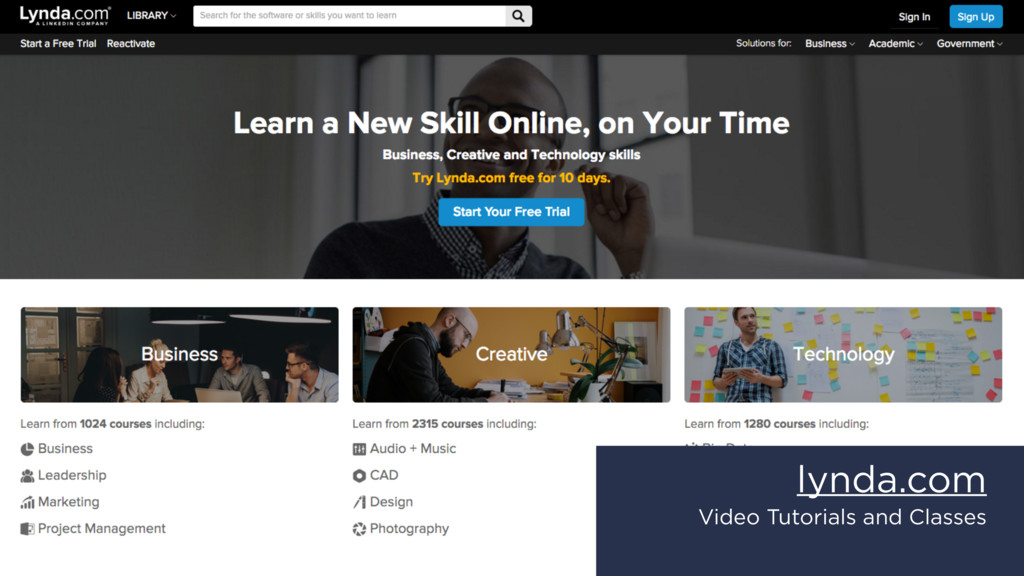 lynda.com Video Tutorials and Classes