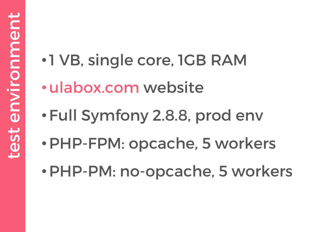 test environment •1 VB, single core, 1GB RAM •u...