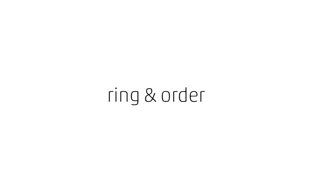 ring & order