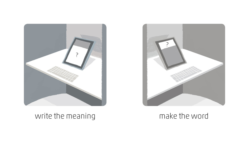write the meaning ? ? make the word