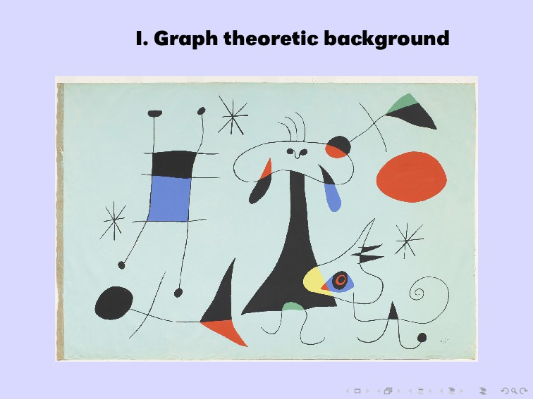 I. Graph theoretic background