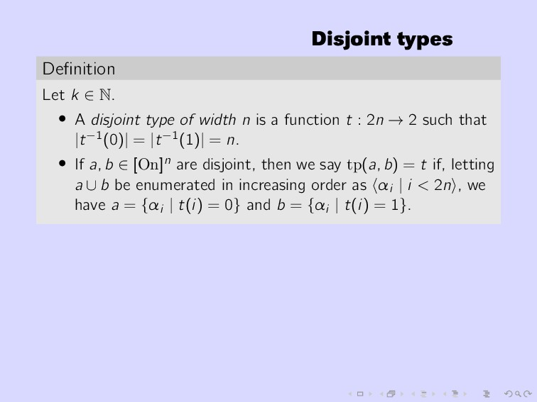Disjoint types Definition Let k ∈ N. • A disjoin...