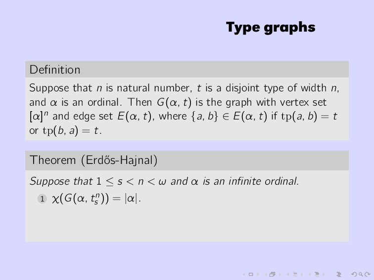 Type graphs Definition Suppose that n is natural...