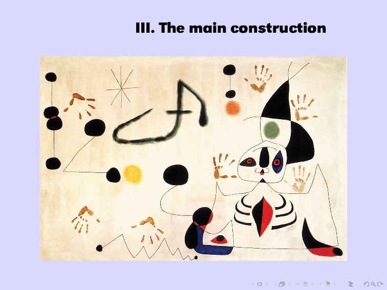 III. The main construction