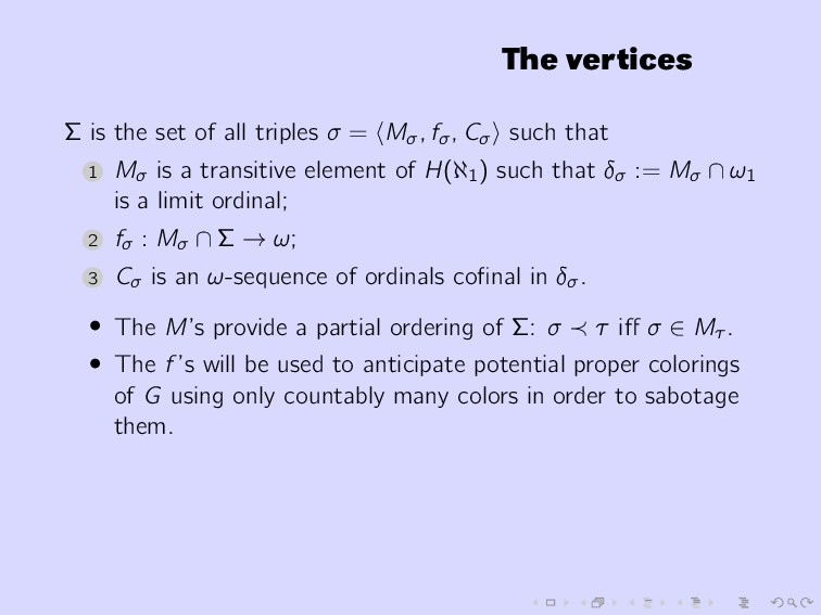 The vertices Σ is the set of all triples σ = Mσ...