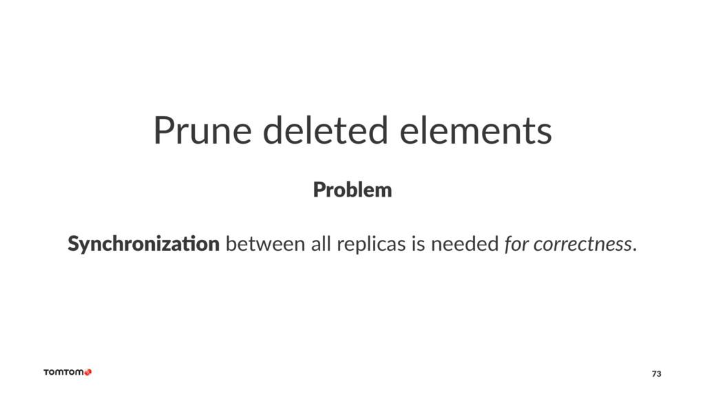 Prune deleted elements Problem Synchroniza+on b...
