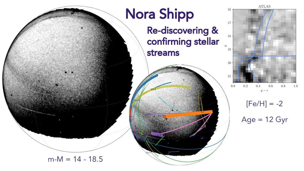 Nora Shipp m-M = 14 - 18.5 [Fe/H] = -2 Age = 12...
