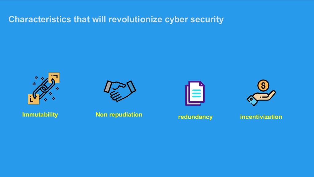 Characteristics that will revolutionize cyber s...