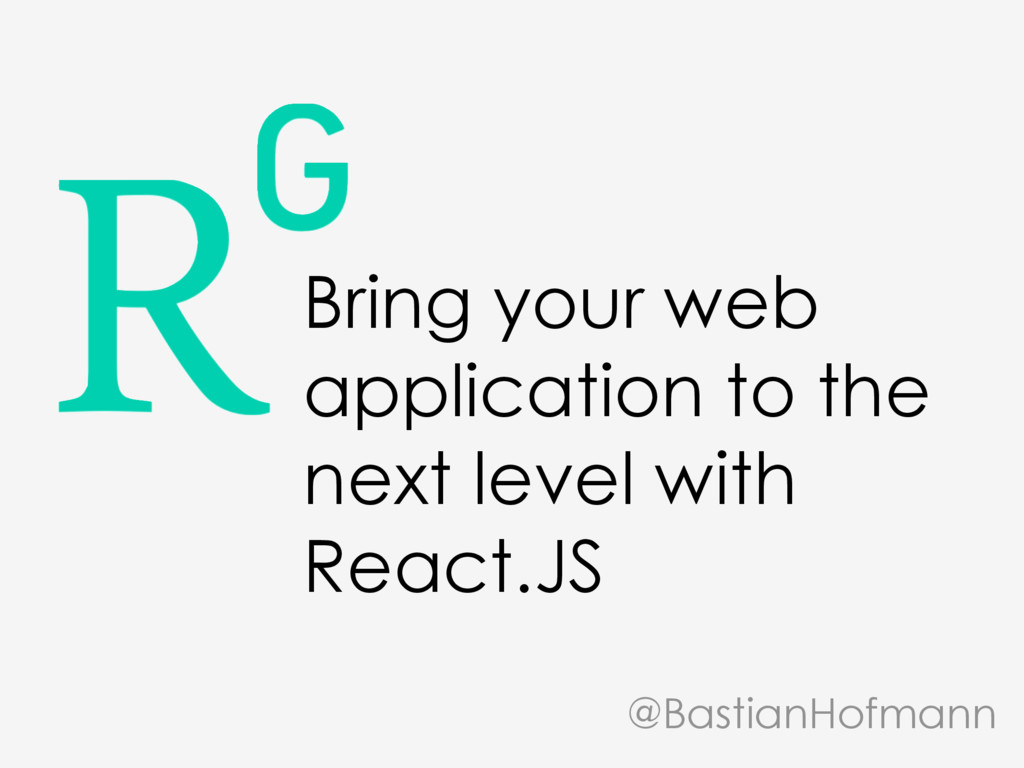 Bring your web application to the next level wi...