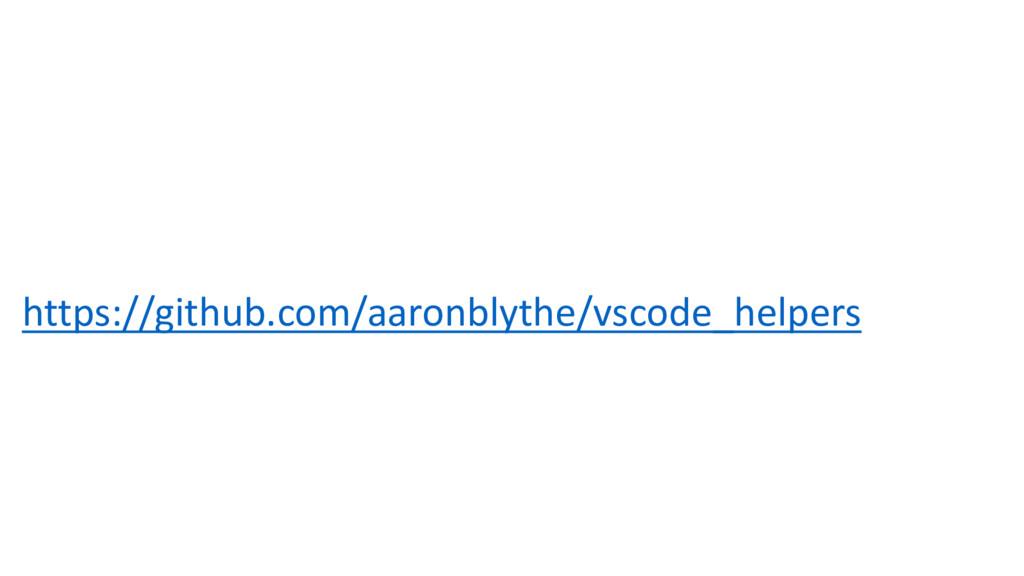 https://github.com/aaronblythe/vscode_helpers