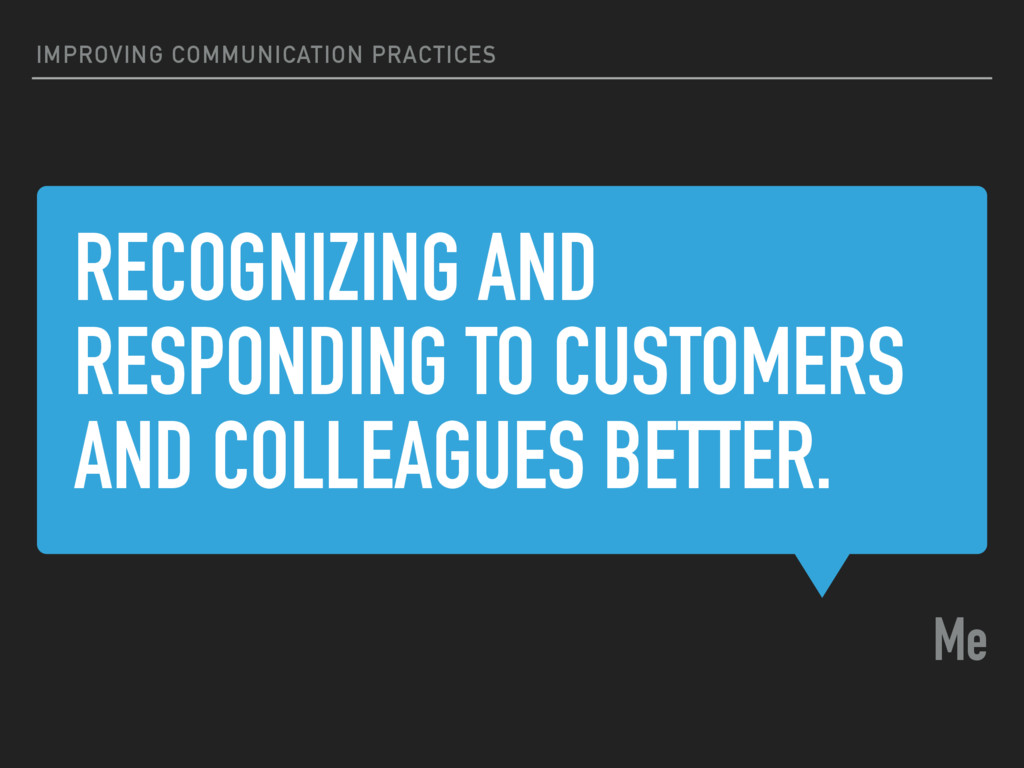 RECOGNIZING AND RESPONDING TO CUSTOMERS AND COL...