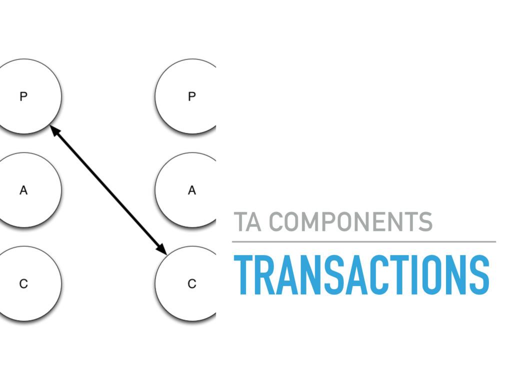 TRANSACTIONS TA COMPONENTS