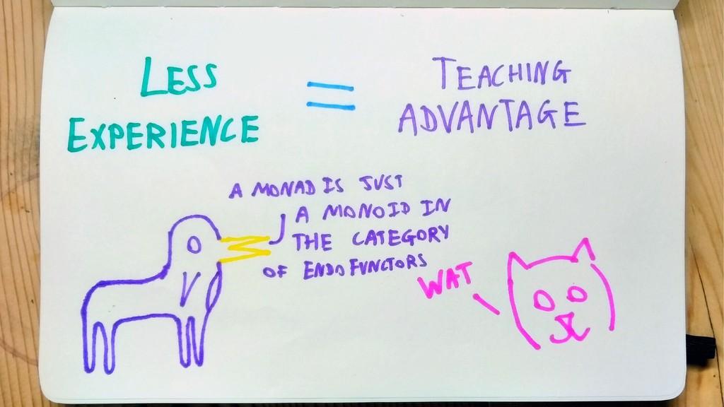 Less experience = teaching advantage Expert exp...
