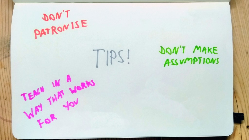 Tips! Teach in a way that works for you Don't m...