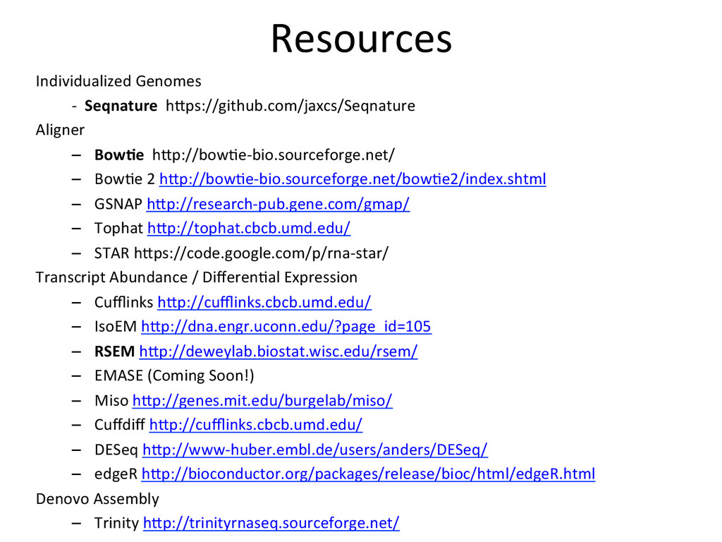 Resources  Individualized Genomes   ...