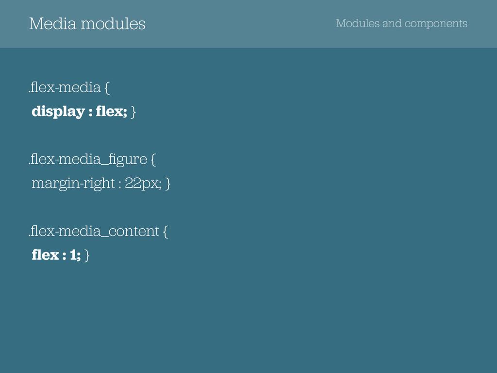 Media modules Modules and components .flex-media...