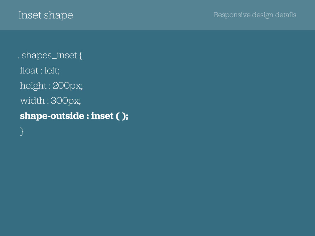 Responsive design details Inset shape . shapes_...