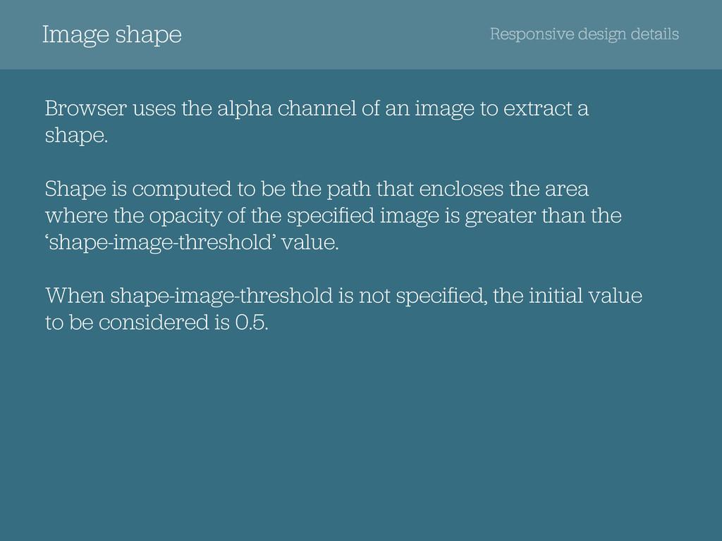 Responsive design details Image shape Browser u...