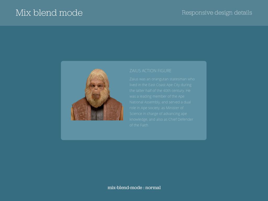 Mix blend mode Responsive design details mix-bl...