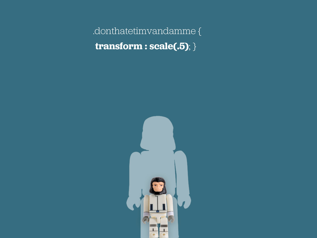 .donthatetimvandamme { transform : scale(.5); }