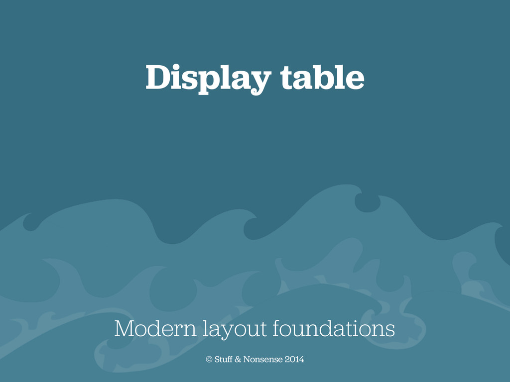 Display table Modern layout foundations © Stuff...