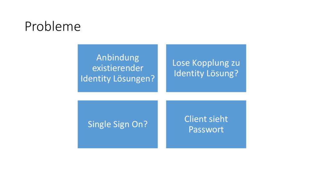 Probleme Anbindung existierender Identity Lösun...