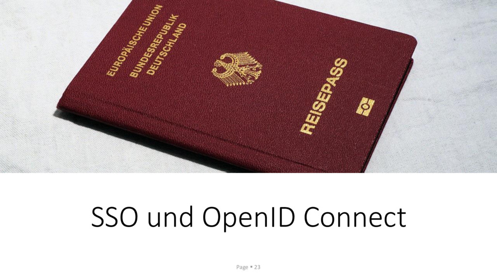 SSO und OpenID Connect Page ▪ 23