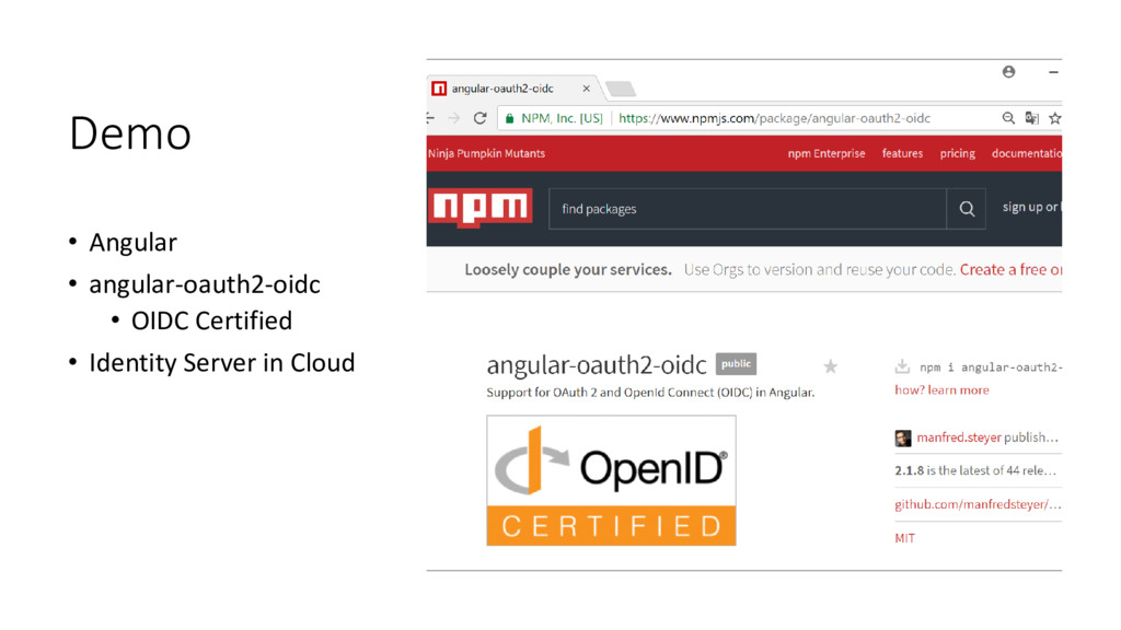 Demo • Angular • angular-oauth2-oidc • OIDC Cer...