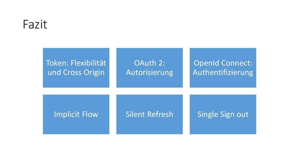 Fazit Token: Flexibilität und Cross Origin OAut...
