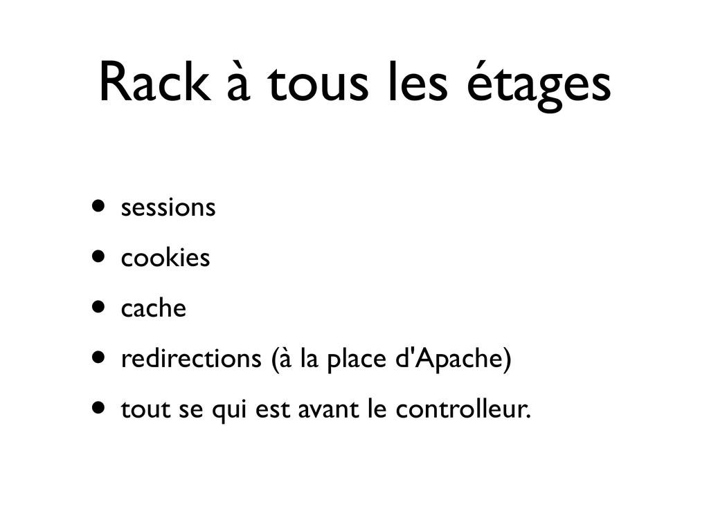 Rack à tous les étages • sessions • cookies • c...