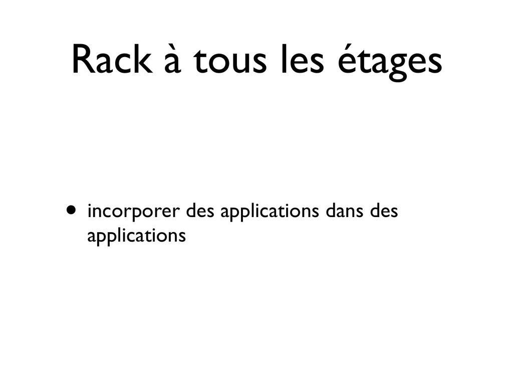 Rack à tous les étages • incorporer des applica...