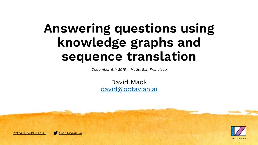 Answering questions using knowledge graphs and ...