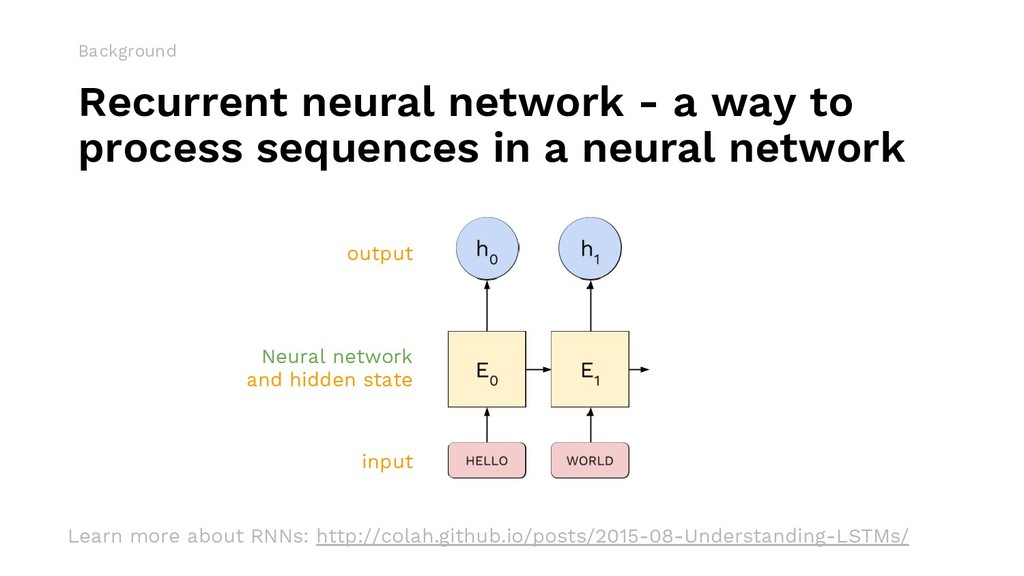 Recurrent neural network - a way to process seq...