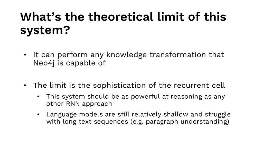 What's the theoretical limit of this system? • ...