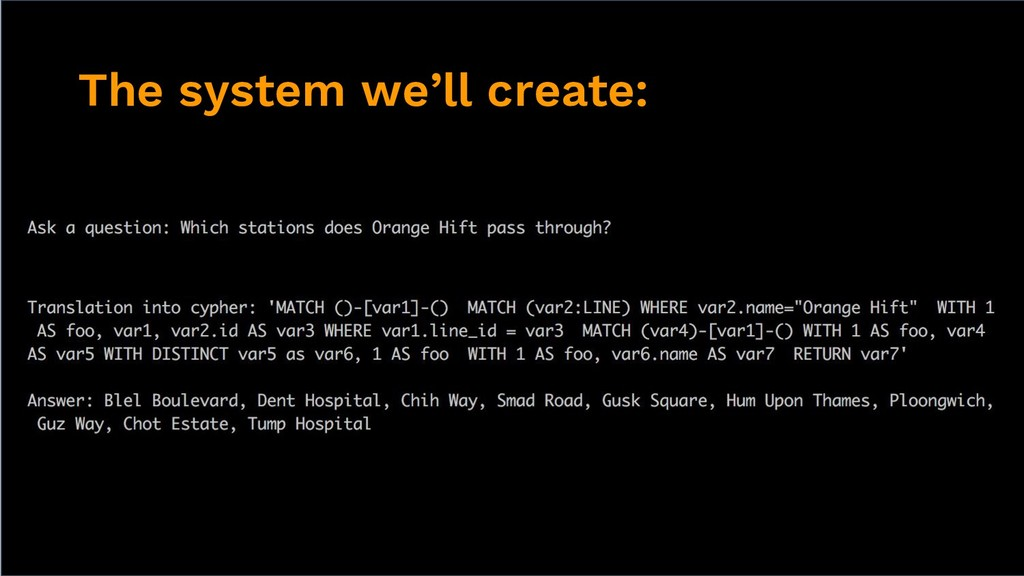 The system we'll create: