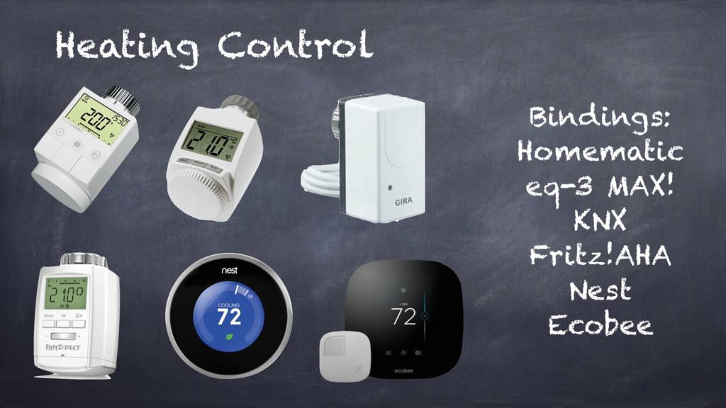 Heating Control Bindings: Homematic eq-3 MAX! K...