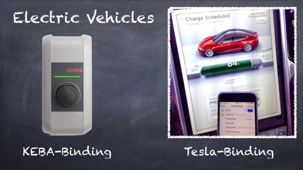 Electric Vehicles KEBA-Binding Tesla-Binding