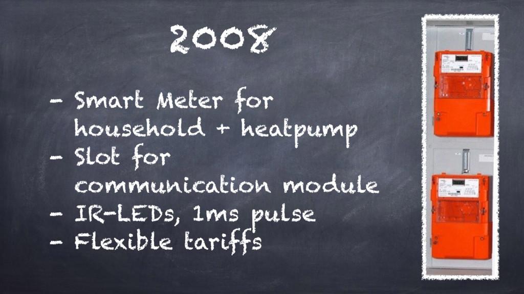 2008 - Smart Meter for household + heatpump - ...