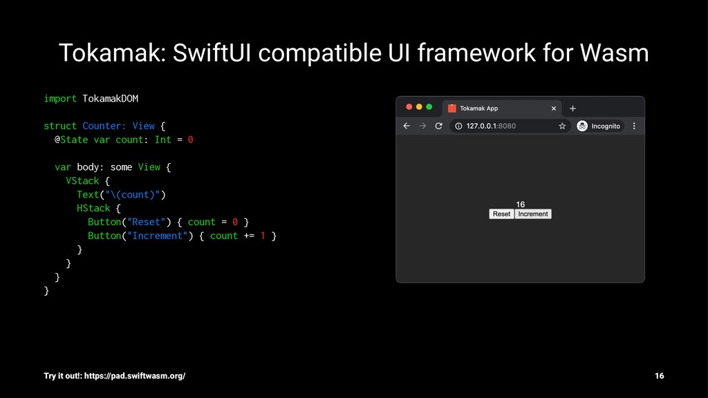 Tokamak: SwiftUI compatible UI framework for Wa...