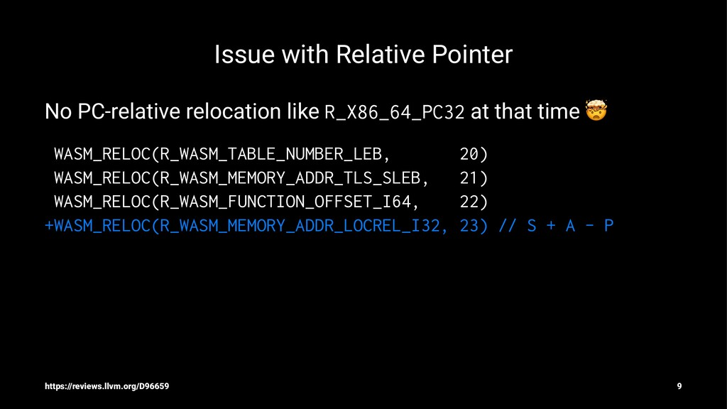 Issue with Relative Pointer No PC-relative relo...