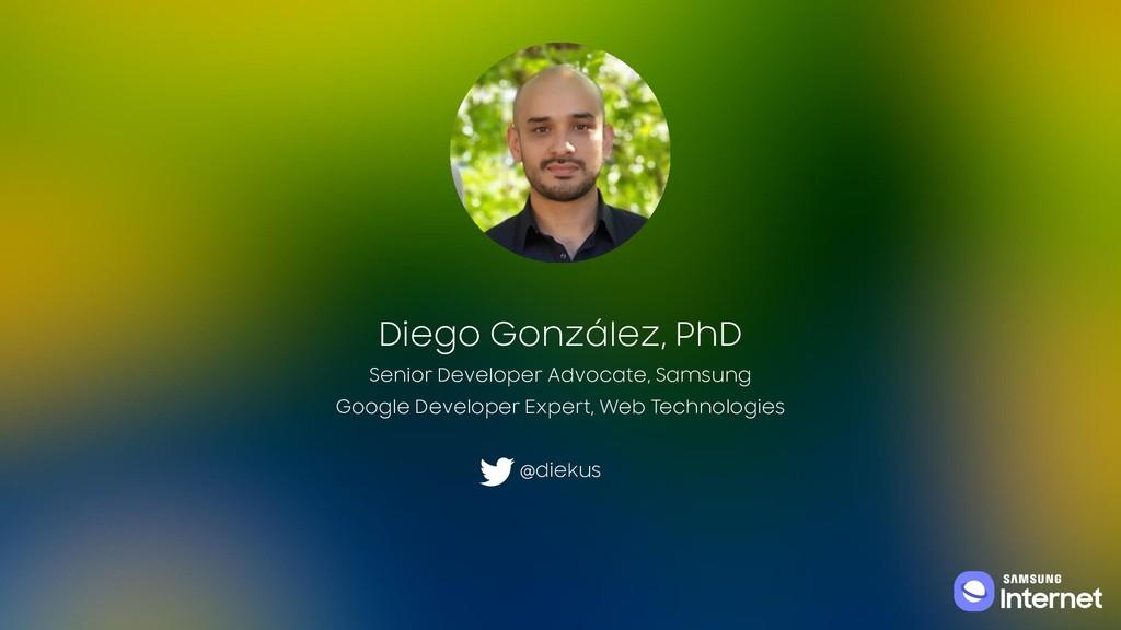 Diego González, PhD Senior Developer Advocate, ...