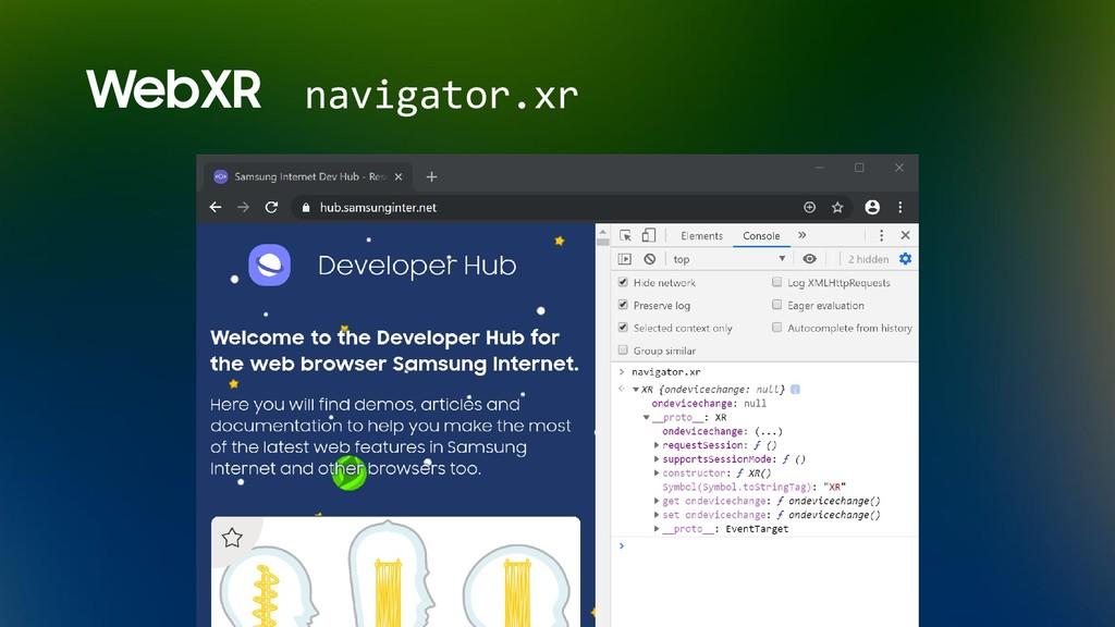 WebXR navigator.xr
